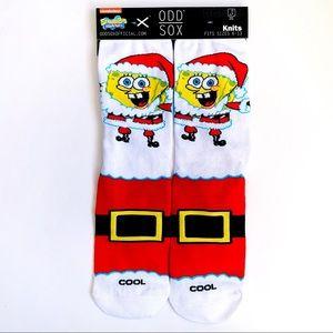 Odd Sox Spongebob Christmas Santa Crew Socks